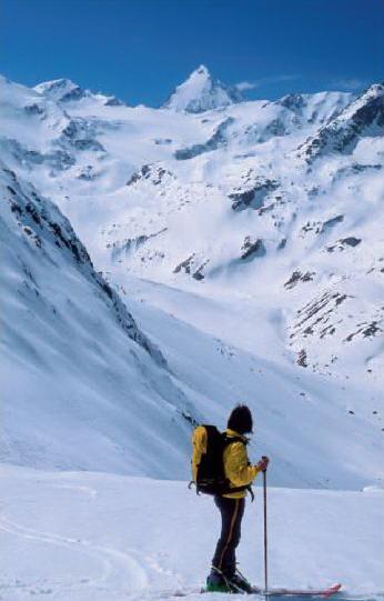 Ortlerské Alpy - v pozadí Königspitze